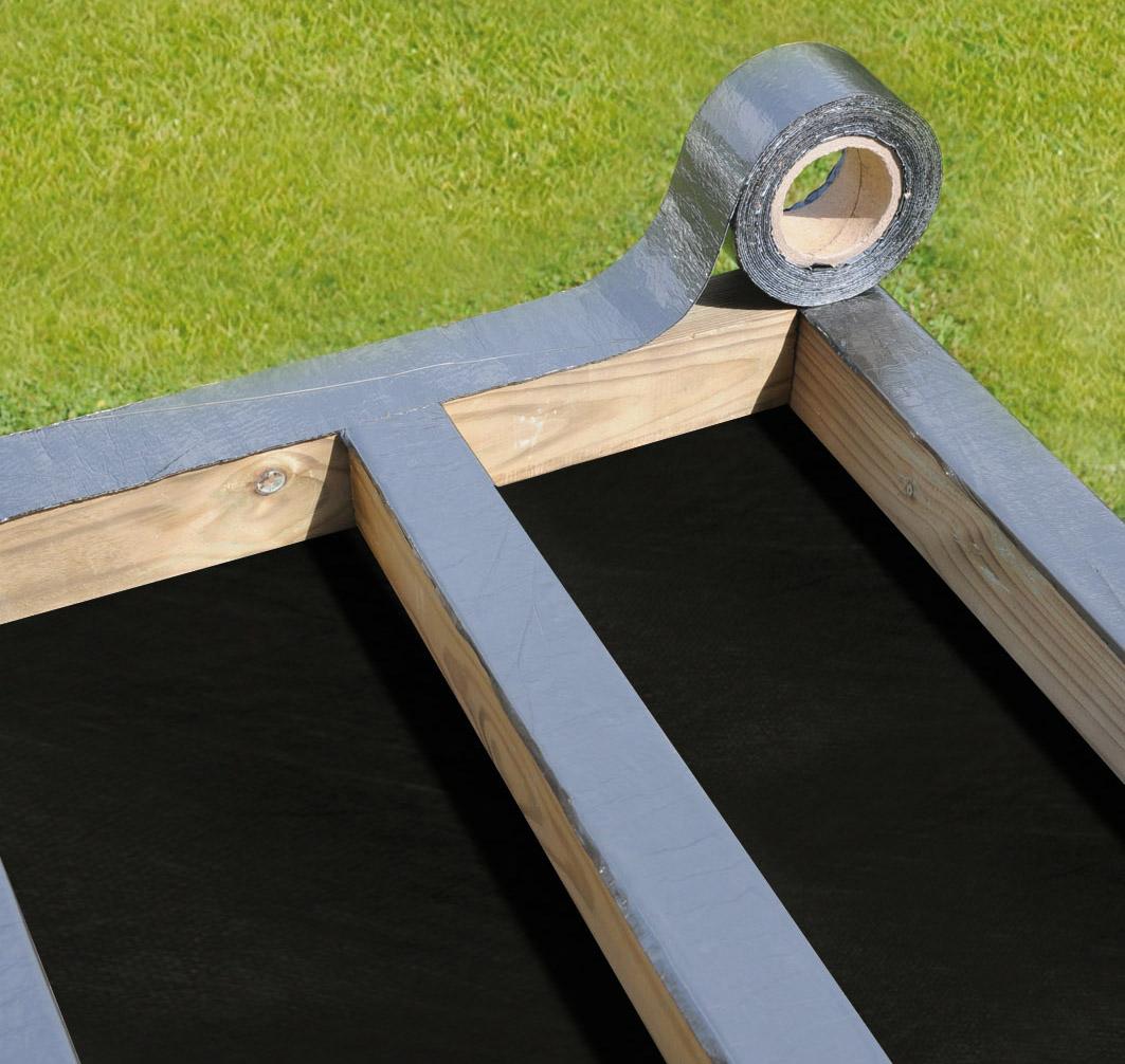 bande bitumeuse prot ger sa terrasse. Black Bedroom Furniture Sets. Home Design Ideas