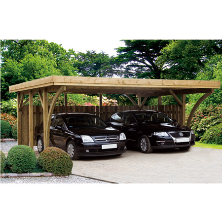 garages et carports en bois abri voiture. Black Bedroom Furniture Sets. Home Design Ideas