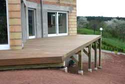 terrasse sur poteaux et poutres le blog de la terrasse bois. Black Bedroom Furniture Sets. Home Design Ideas