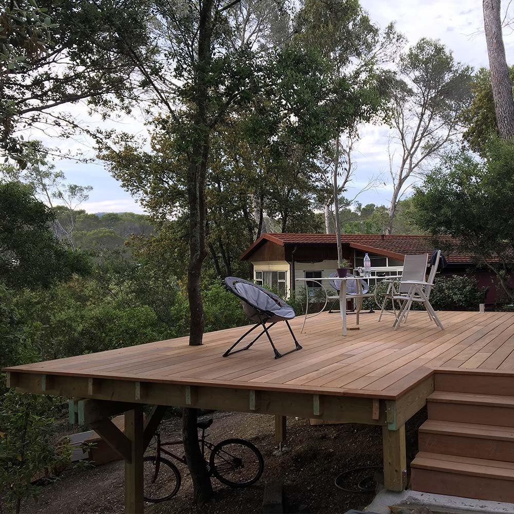 Poteau Bois Pour Terrasse terrasse sur poteaux et poutres - le blog de la terrasse bois