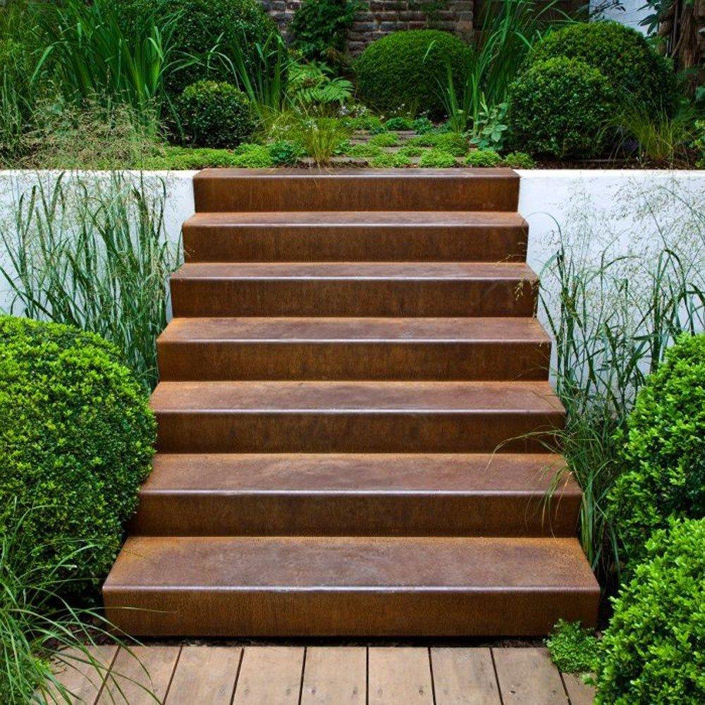 tout savoir sur l escalier en corten escalier en acier. Black Bedroom Furniture Sets. Home Design Ideas